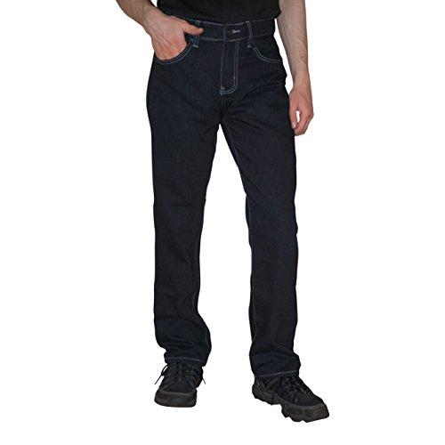 Big Joe Big Men S Regular Straight Fit Jeans Pants  With A Beautiful Fashion Designer Back Pocket Embroidery  44Wx30l  Black