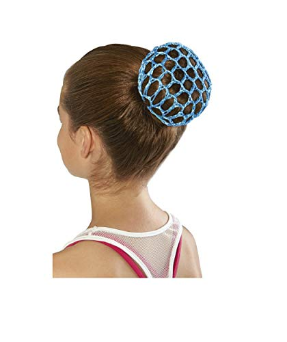 dult's Hair Bun Cover, Blue, one ()
