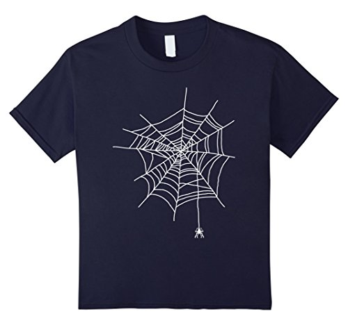 Childrens Spider Costume Ideas (Kids Spider Web Halloween Funny Gift Idea Cobweb Costume T Shirt 10 Navy)