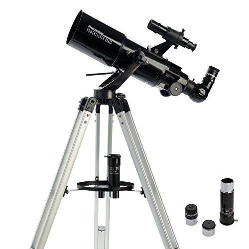 Celestron 21087 PowerSeeker 80AZS Telescope (Black) Celestron