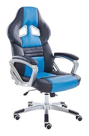 YAKOE, Sedia da ufficio con design unico, con funzione di inclinazione, in finta pelle, Arancione Sheng Yang 29050