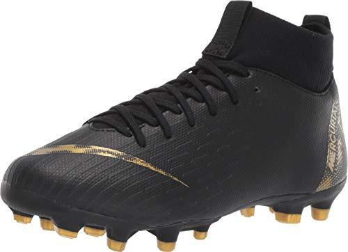 Nike Kids Unisex Superfly 6 Academy MG Soccer (Little Kid/Big Kid) Black/Metallic Vivid Gold 2.5 M US Little Kid