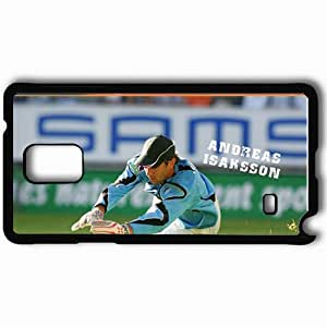 Personalized Samsung Note 4 Cell phone Case/Cover Skin Andreas Isaksson Football Black