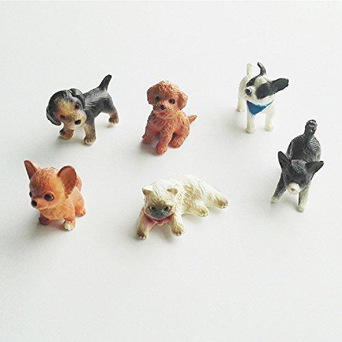 Dog Figure Miniature - YOUOR 6pcs Simulation Mini Cat Dog Model Figurines Animals Miniature Pet Puppy Doll Toys