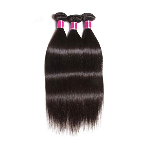 Brazilian Straight Hair Bundles Human Hair Weave Bundles 8-30inch Remy Hair Extension 1 Piece,8inches,China ()