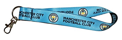 mier League Manchester City Football Club Key Strap Key Chain, 9.5 inches, Blue ()