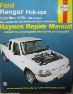 ford ranger mazda b series pick ups automotive repair manual 1993 rh amazon com service manual ford ranger pdf service manual ford ranger 2010