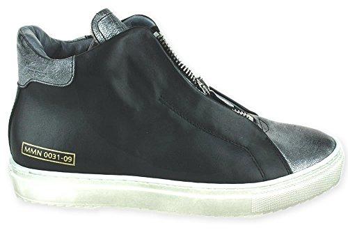 NAPPA NERO Sneaker Momino Lammfell Reißverschluss