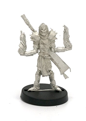 Stonehaven Elf Undead Mage Miniature Figure (for 28mm Scale Table Top War Games) - Made in USA