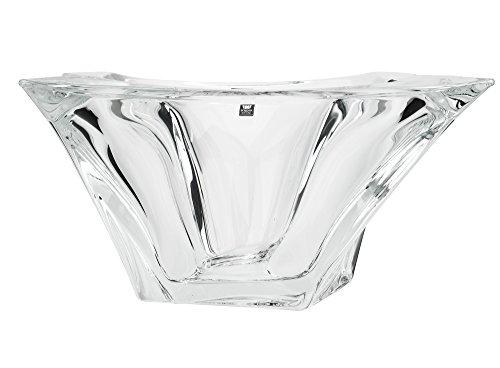 Crystal Square Bowls (Aurum Crystal AU60330, 13-Inch Quadron Fruit Bowl, Square Crystal Decorative Centerpiece Deep Bowl, Wedding Gift, Bohemian Crystal)