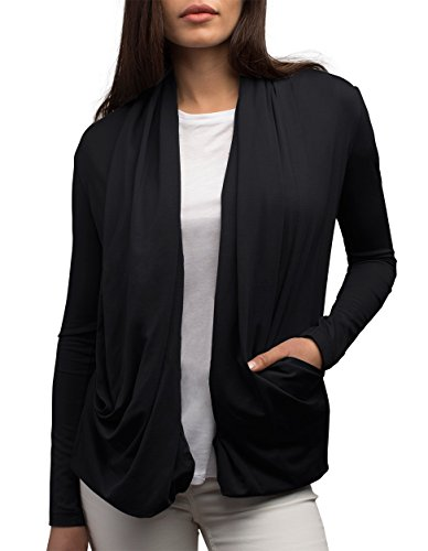 SCOTTeVEST Maddie Womens Cardigans - Travel Clothing - Travel Outfits for Women (BLK M)