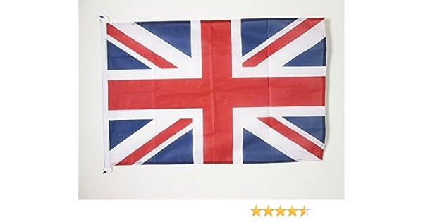 AZ FLAG Bandera del Reino Unido 90x60cm Uso Exterior - Bandera Inglesa - BRITANICA – UK 60 x 90 cm Anillos: Amazon.es: Hogar