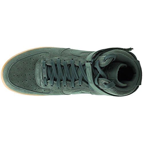 Green Lv8 Dunkelgrün Nike Zapatillas Gimnasia de Suede '07 Force 1 High Hombre Air para Outdoor Ha1qXa6