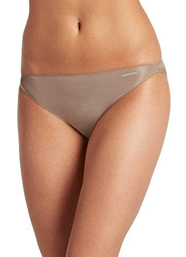 Jockey Women's Underwear No Panty Line Promise Tactel String Bikini, Toasted Beige, 5 ()