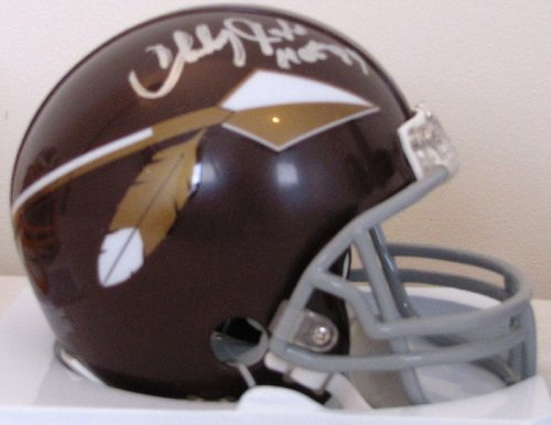 (Charley Taylor Autographed Mini Helmet - Washington Redskins Hall of Fame Inscription)