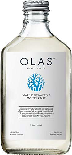 OLAS Alcohol-Free Mouthwash with Marine Bio-Active Complex, Travel Size 3fl.oz by Olas