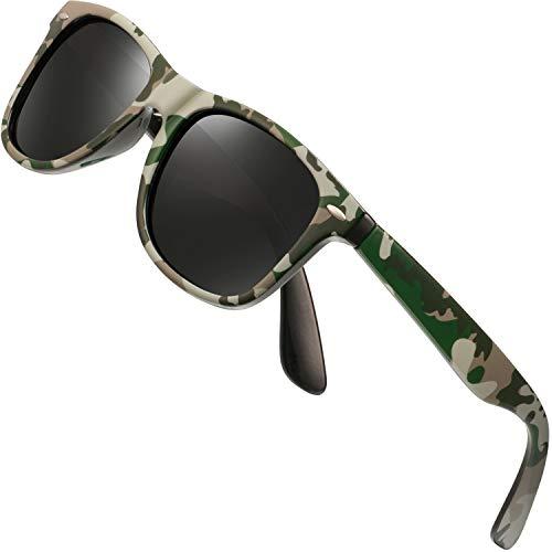 Polarized Sunglasses for Men Retro - FEIDU Polarized Retro Sunglasses for Men FD2149 (black-camouflage)