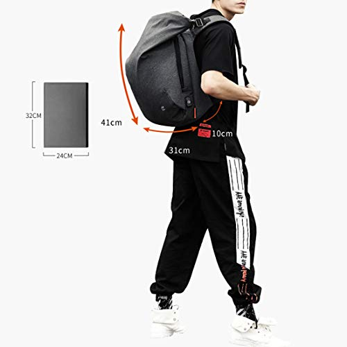 Computer Backpack Personality Student College Casual For Joyiyuan Daypacks Knapsack Compartment Travel Camping Business Bag Laptop Men's Black B0w1dnxE