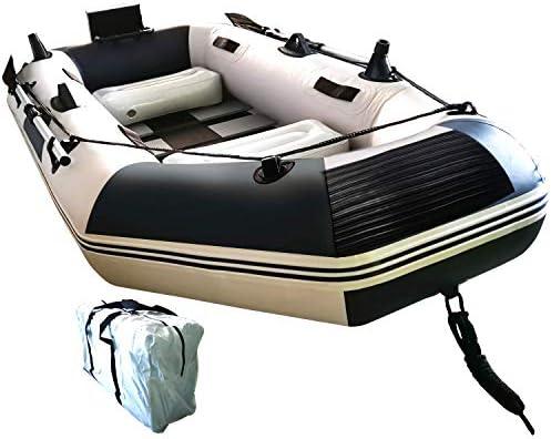 JIASHUO ゴムボート エアボート PVC製 オール付き アンカー モーターマウント リペアキット付き 収納袋付き 耐荷重300kg 重量16.6kgJI12