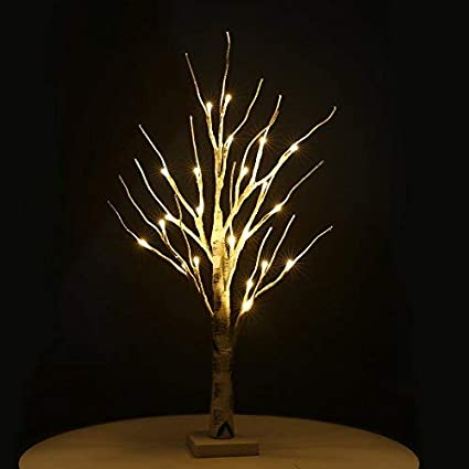 Home Silver Birch Twig Tree for Christmas Zanflare Birch Tree Lights Wedding Party Warm White Bonsai Tree Light 0.6M//23.6 Inch 24 LEDs Battery Operated Desk Tree Light New Years Easter