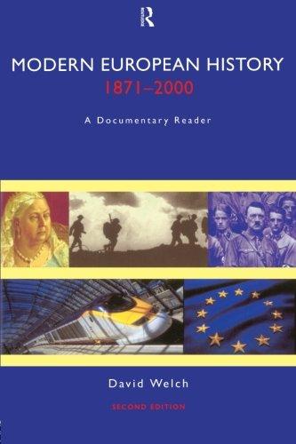 Modern European History, 1871-2000: A Documentary Reader