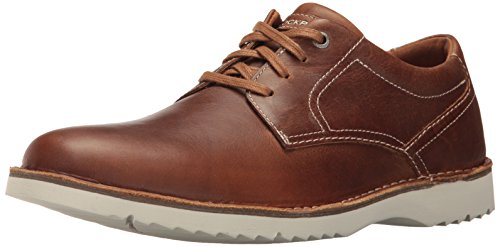 Shoe Carolina Oxfords (Rockport Men's Cabot Plain Toe Shoe, tan leather, 12 M US)