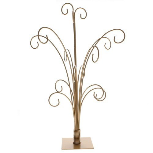 StealStreet SS-Tri-34145 20 inch Gold Color Ornament Tree