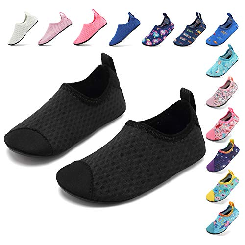 2cb8aa8375cb8 Coolloog Water Shoes for Kids Water Shoes Toddler Swim Shoes Quick Dry  Black 3-4 M US Toddler