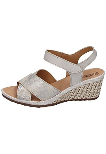 Comfortabel Damen Sandalen, beige, Leder, 710747-8 Beige