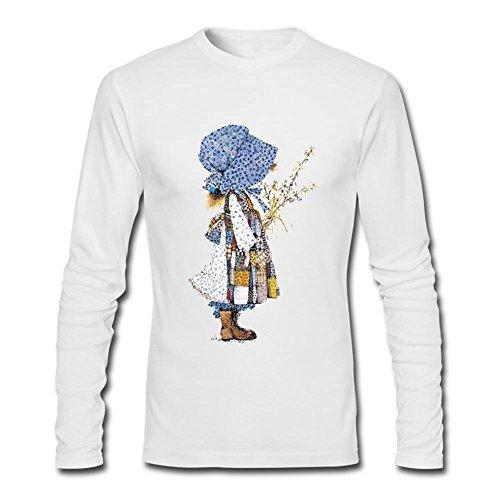 SAMMA Men's Holly Hobbie Long Sleeve T Shirt Holly Hobbie Clothes