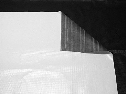 Vinyl Tarp 15 oz. 17 Mil Heavy-Duty White w/ Gray Print Back - Waterproof PVC (17x20)