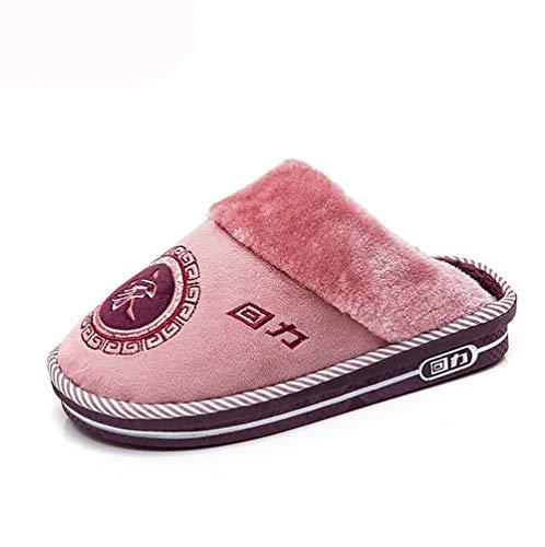 40 Coton Intérieur Décontractée Chaussures Hiver SHANGXIAN Famille Purple Blue 41 Chaud Antidérapant Unisexe Chaussons Sandales gFXq7w