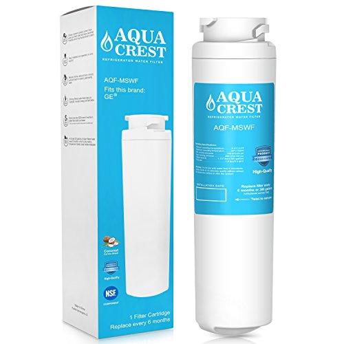 AQUACREST MSWF Refrigerator Water Filter Replacement for GE MSWF SmartWater 101821B 101820A