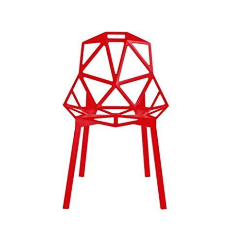 Magis Modern Chair - Luke Modern Aluminium Dining Chair, Red