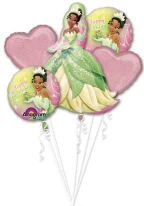 Princess and the Frog Balloons Princess Tiana Balloon Bouquet 5 Count