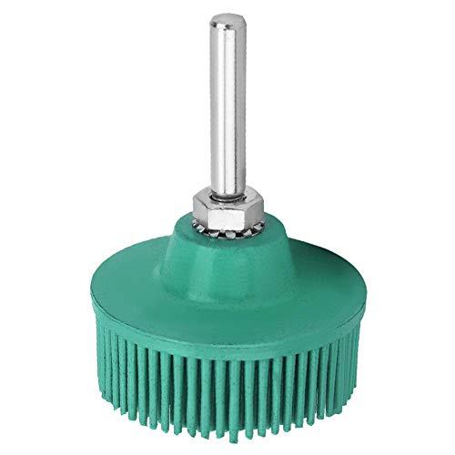 2インチ 剛毛ディスク エメリーゴムの研摩ブラシ 研ぎの車輪 金属の微細仕上げ、洗浄、研磨、研削、バリ取り、錆や傷の除去に適する(緑0#)