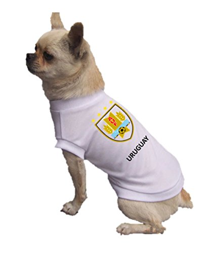 Jersey Uruguay-Pet T-Shirt- Made of 100% Polyester-Breathable Fabric-Makes Dog Comfortable-Cozy up Costume to Celebrate The Russia World Cup 2018-enjoy Your Football Team Passion. (Medium) -