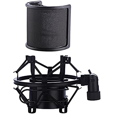 microphone-shock-mount-with-pop-filter