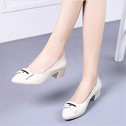 shoes shoes mouth work shoes comfortable ladies pointed fashion head Leather FLYRCX office shallow single M shoes CxwPqfPX4