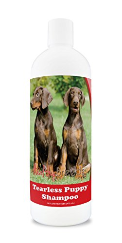 Healthy Breeds Puppy Shampoo & Conditioner Tear Free for Doberman Pinscher - OVER 100 BREEDS - Nourishes & Moisturizes for Growth - Safe with Flea and Tick Topicals - 16 oz ()