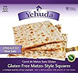 Yehuda Gluten Free Matzo Style Squares Kosher For Passover 10.45 oz. Pack of 3.
