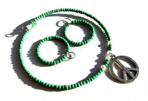 Turquoise green doll jewelry set