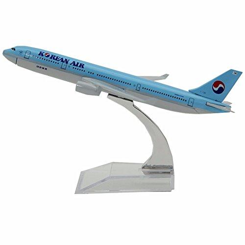 Gaobei 16cm Korea Airways Airbus A330 1:400 Clip-Together - 1 200 Diecast Airplane A330