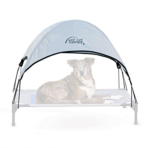 K&H Pet Products Pet Cot Canopy Large Gray 30' x 42' (Cot Sold Separately)