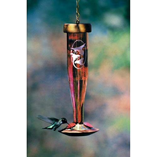Schrodt Ruby Etched Lantern Hummingbird Bird Feeder ()