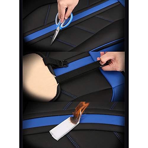Fly Hong Autositzbezug kompatibel mit Airbag-Sitzprotektoren vorderer und hinterer 5-Sitzer-Komplettsatz Farbe : Red Vier Jahreszeiten Universal-Leder wasserdicht.