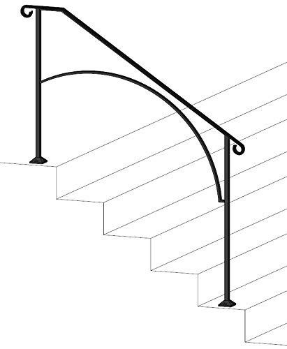 Iron X Handrail Arch #4 (No Fasteners)