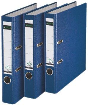 Leitz 310345035 - Juego de 3 archivadores (A4), color azul
