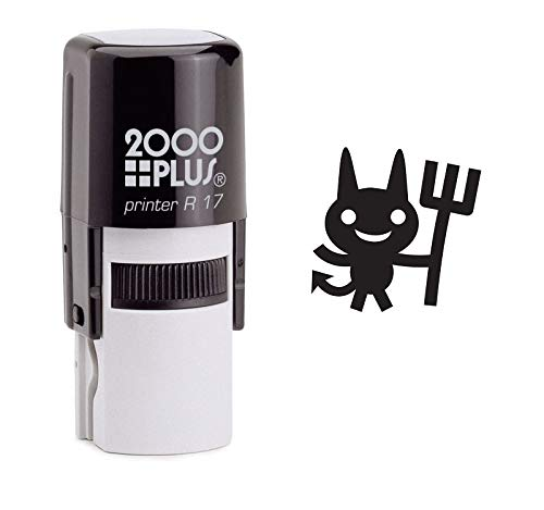 - StampExpression - Minion Devil Self Inking Rubber Stamp - Black Ink (A-6912)