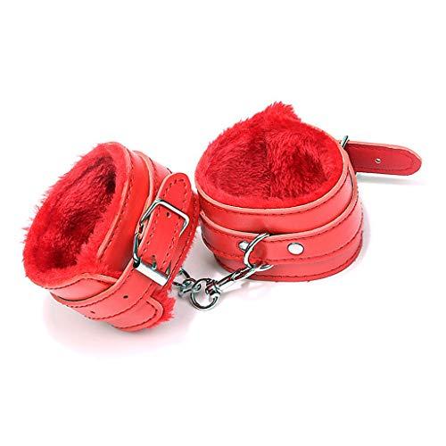 Leather Handcuffs Adjustable super Soft Fur Leather Handcuffs - Leather Handcuff